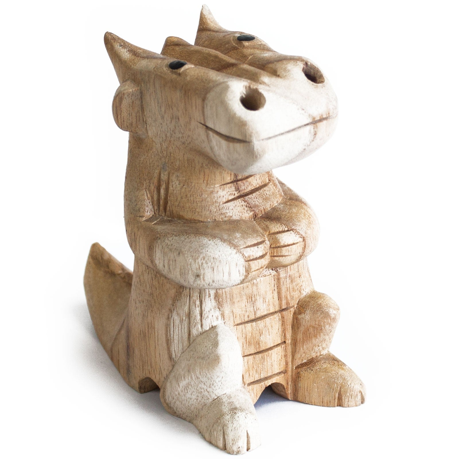 Wooden Carved Dragon Incense Cone Burner