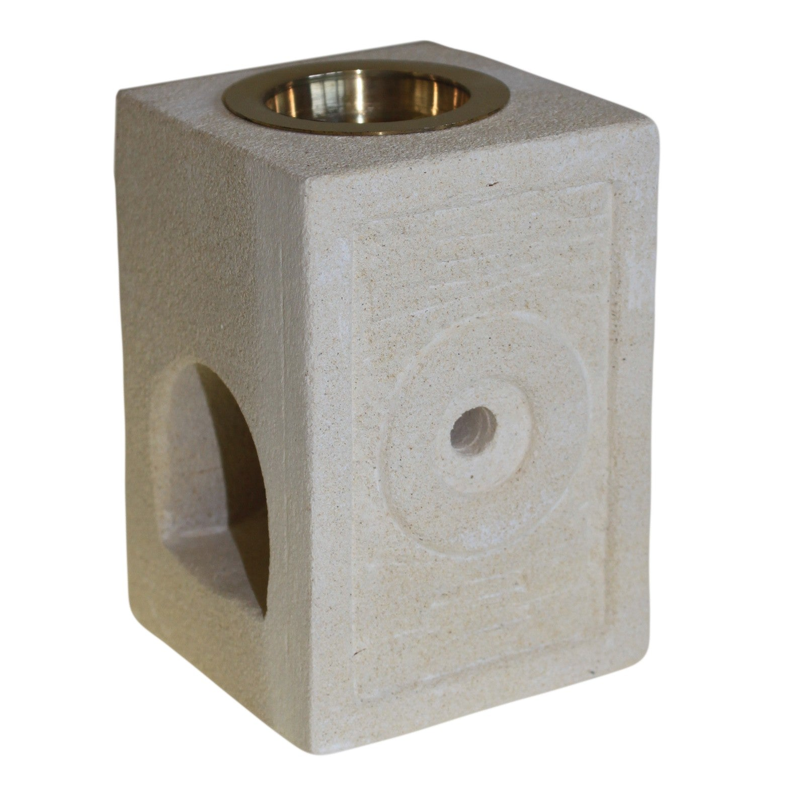 Square Moorish Sand Stone Oil Burner