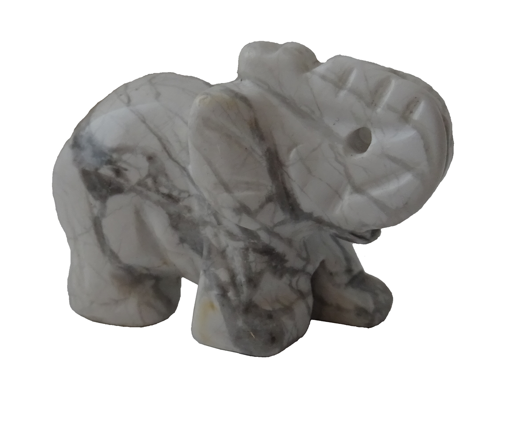 White Jade Crystal Elephant
