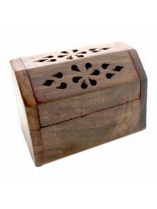 Wooden Incense Burner Chest Box