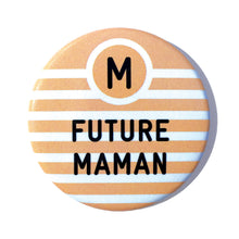 Charger l'image dans la galerie, badge Bébé à Bord future maman orange