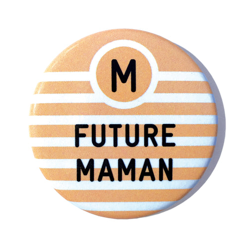 badge Bébé à Bord future maman orange