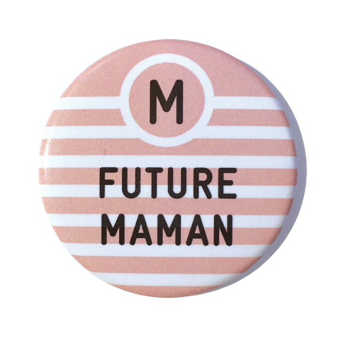 Badge bab Bébé à Bord future maman rose