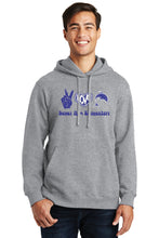 Load image into Gallery viewer, Peace, Love Dolphins Hoody - Heather Grey