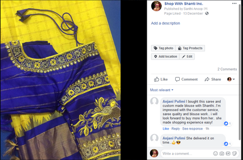 Gadwal Saree and Customised Blouse