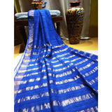 Handwoven pure Tussar silk saree with different color options - Blue - Tussar Silk Sarees
