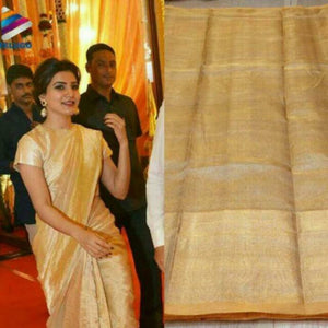 Uppada gold and silver handwoven full tissue saree - Uppada Tissue Saree