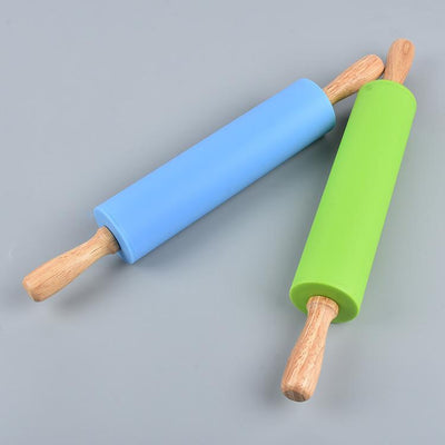 wooden handle creative roller type rolling pin