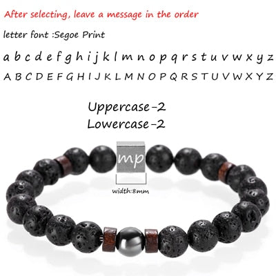 Mcllroy Stone bracelet beads lava natural homme fashion bangles Bracelet Men