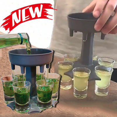 6 Shot Glass Dispenser Holder Wine