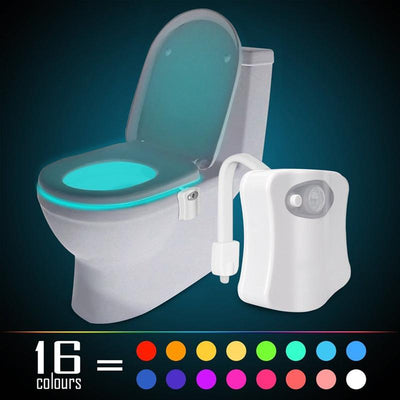 Motion Sensor LED Toilet Light with 16-Colors