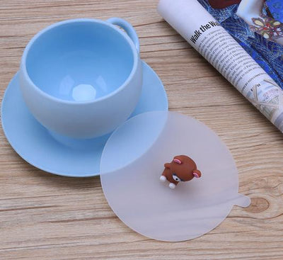 Multi-function Dustproof leakproof cup lid