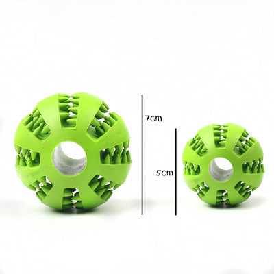 Pet Dog Toys Toy Funny Interactive Elasticity Ball Dog Chew Toy For Dog Tooth Clean Ball Of Food