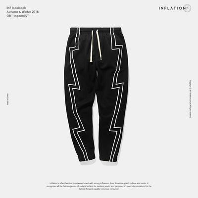 INFLATION 2019 FW Stripe Screen Print Sweatpants