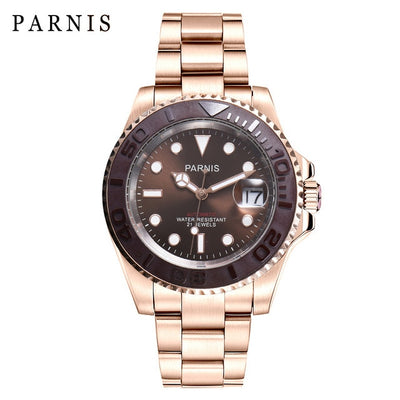 Parnis Mechanical Watches Sapphire crystal automatico Men