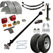"1112 - 6'6"" x 12 Single Axle 3.5K Utility Trailer Kit"