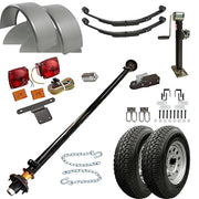 "1112 - 6'6"" x 12 Single Axle 5.2K HD Utility Trailer Kit"
