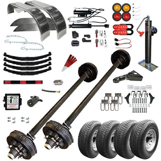 "TK Trailer Kit - 24GT - 82"" x 24' Tandem Axle Gravity Tilt 14K Car Hauler TK Trailer Kit"