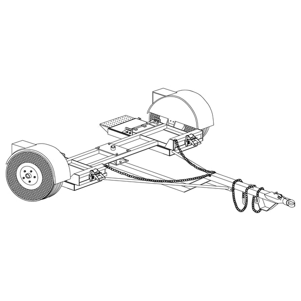 Trailer Plan - Heavy Duty Car Dolly Plan - Model 1000