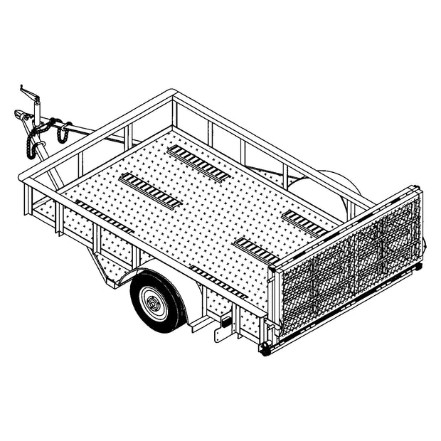 Trailer Plan - 10' x 6' Motorcycle Trailer Plan - Model 10CY