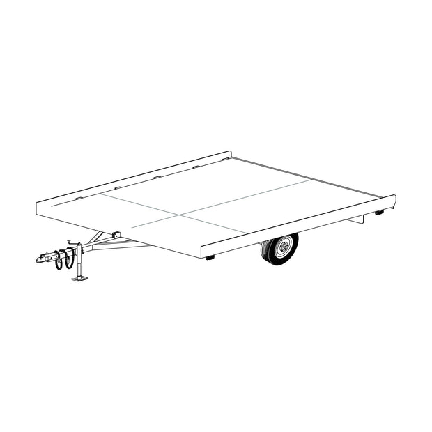 "Trailer Plan - 10' x 8'2"" Snowmobile Tilt Deck Plan - Model 10SN"