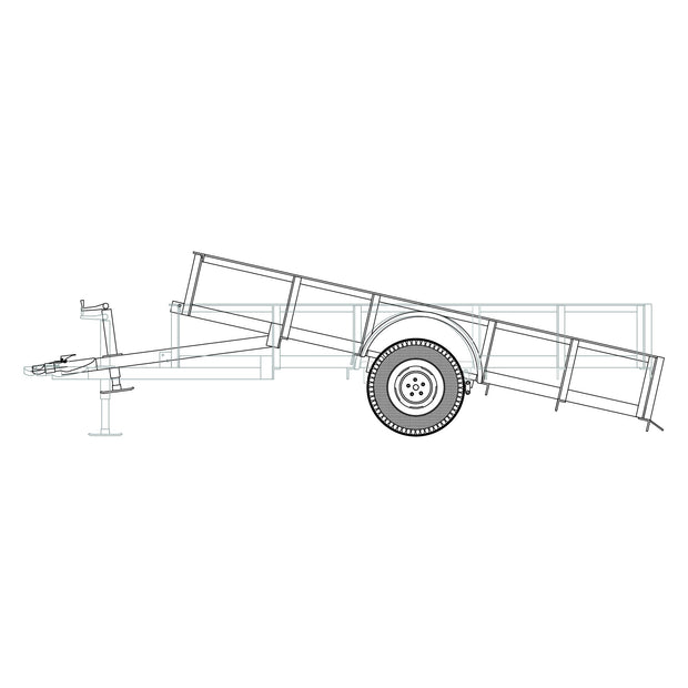 "Trailer Plan - 6'4"" x 10' Single Axle 3.5K Utility Tilt Trailer Plan - Model 1110T"
