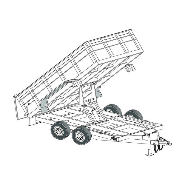 "Trailer Plan - 6'4"" x 12' 12K Dump Trailer DIY Master Plan - Model 12HD"