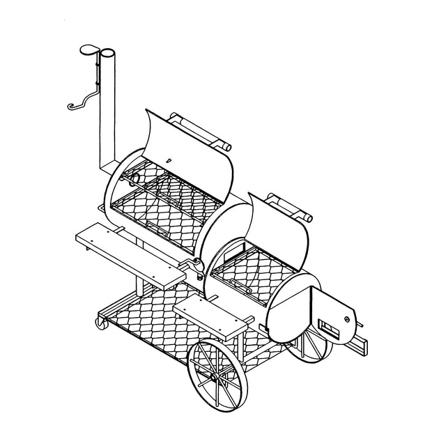 BBQ Pit Plan - Smoker/Pit & Grill - Model MP1301