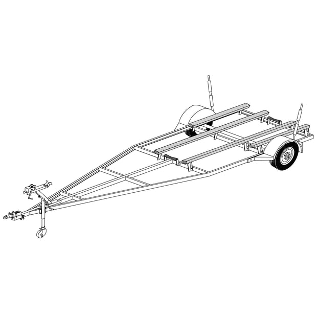 Trailer Plan - Variable Width & Length Boat Trailer Plan - Model 16FB