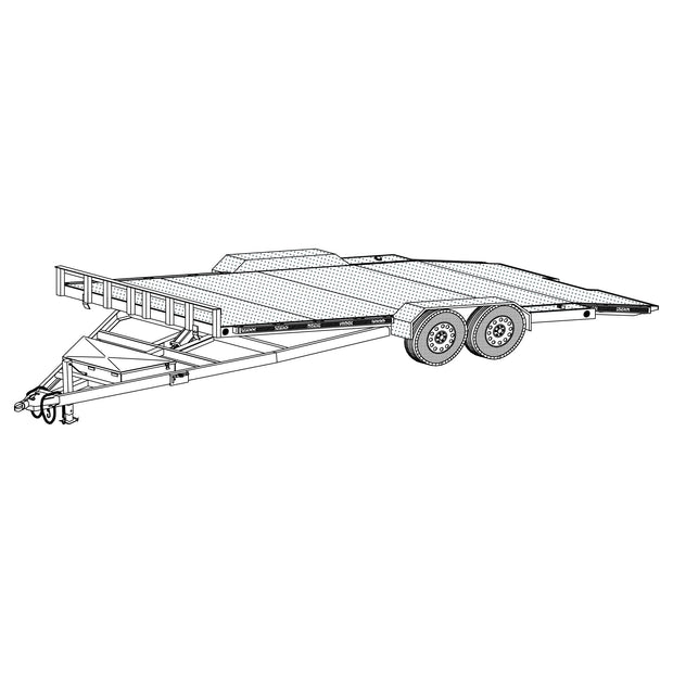 "Trailer Plan - 19' x 82"" Hydraulic Car Carrier Trailer Plan - Model 18HT"