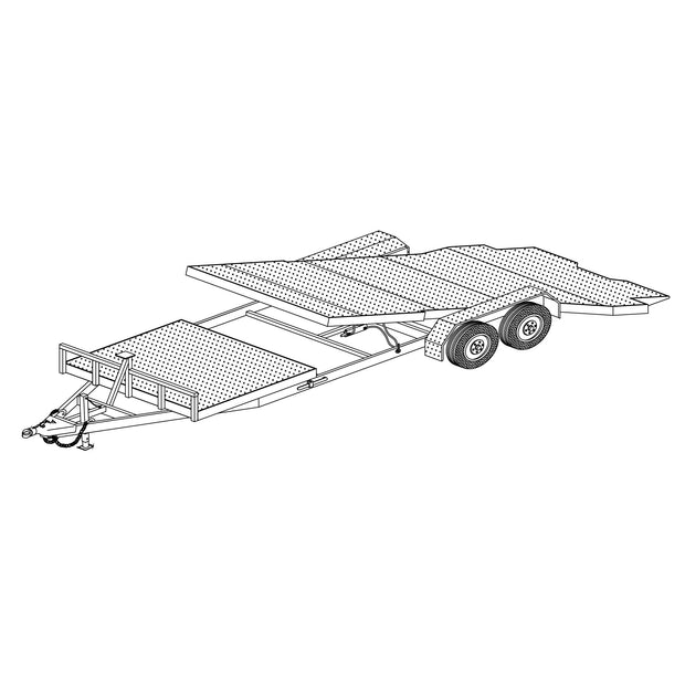 Trailer Plan - 24' 10.4K or 14K Gravity Tilt Car Hauler DIY Plan - Model 24GT