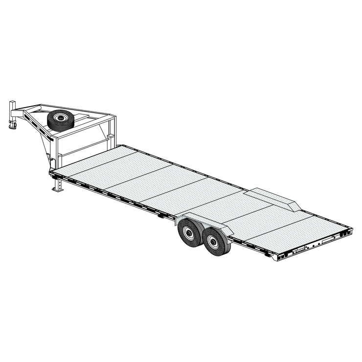 "Trailer Plan - 26' x 102"" Gooseneck Trailer Plan - Model 26 x T"