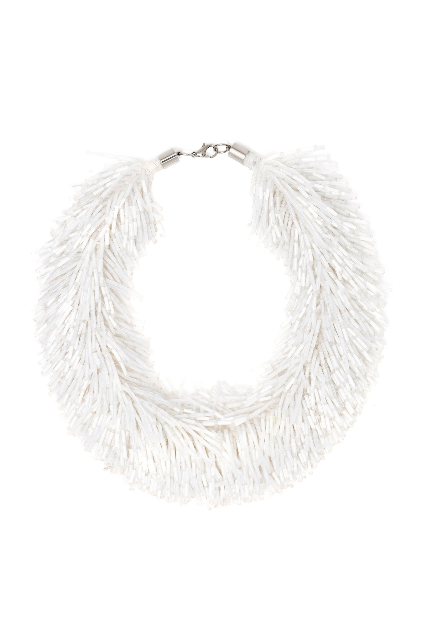 WHITE SHOWER NECKLACE