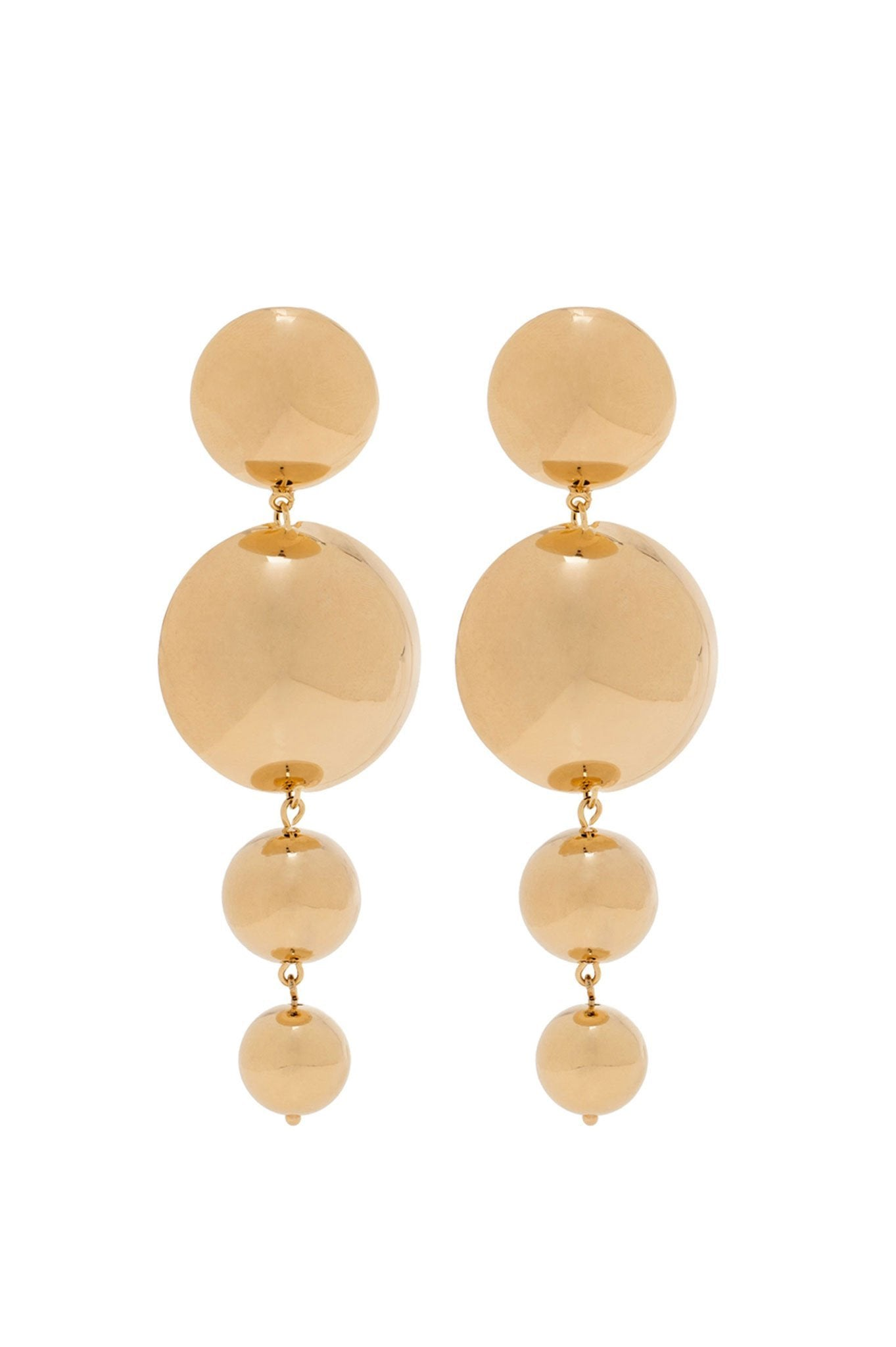Four balls gold earrings