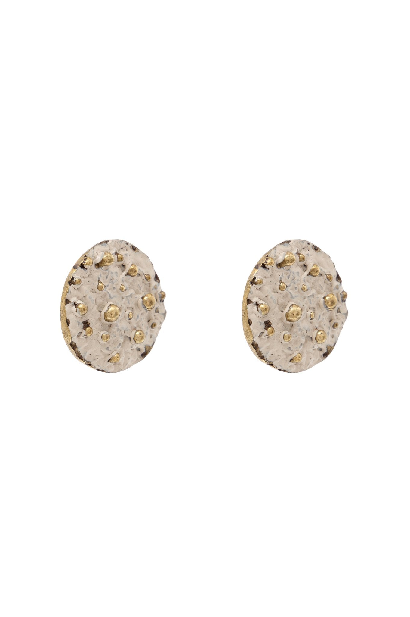 BEIGE COIN EARRINGS
