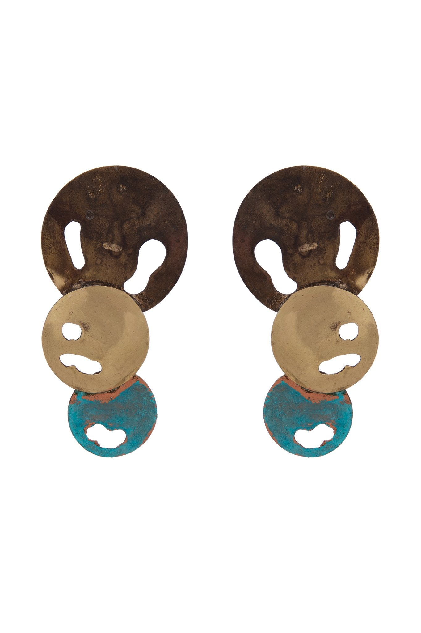 3 DISCS EARRINGS