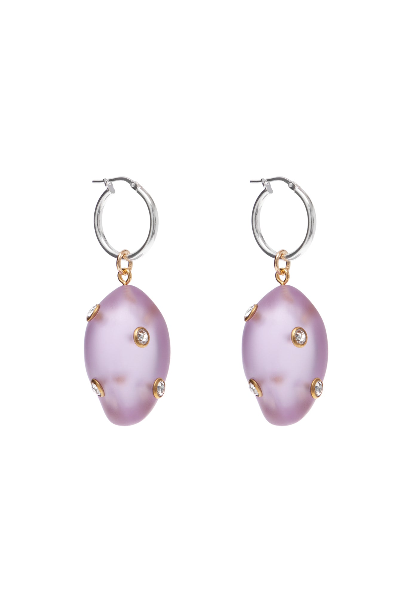 LILAC SMALL ARTSY EARRINGS