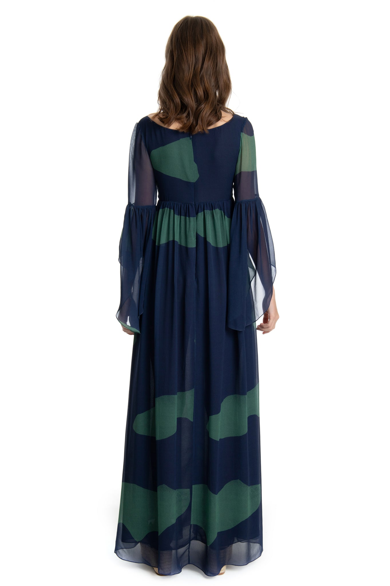 GREEN CLOUDS ISABEL DRESS