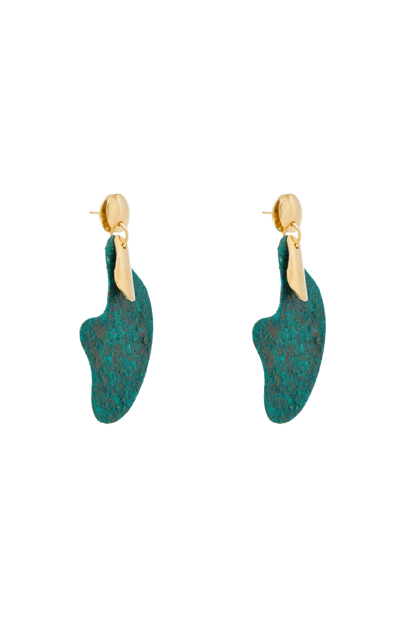 OXIDISED ORGANIC SHAPE EARRINGS