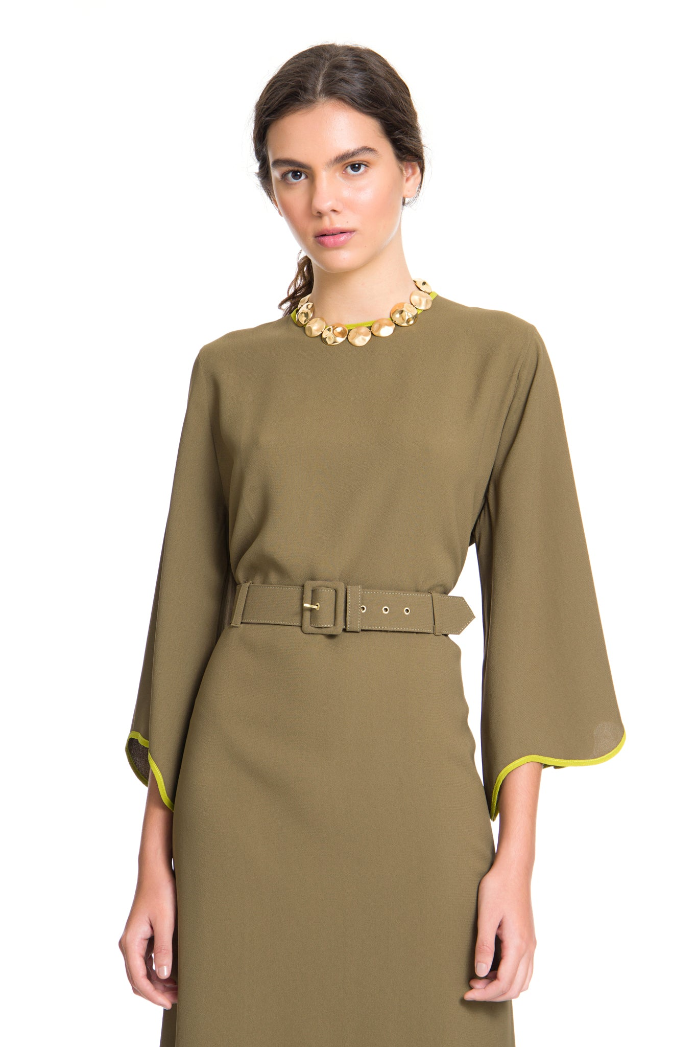 MILITARY/AVOCADO LUCY DRESS