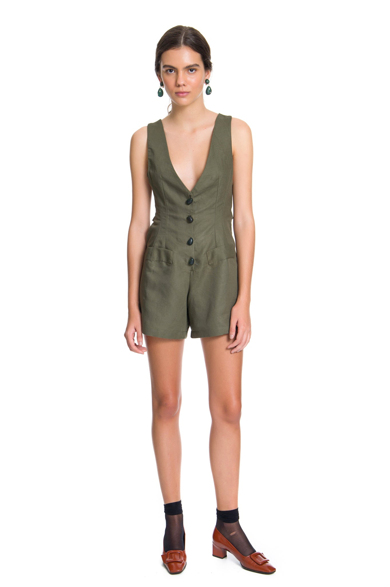 MILITARY COCTEAU PLAYSUIT