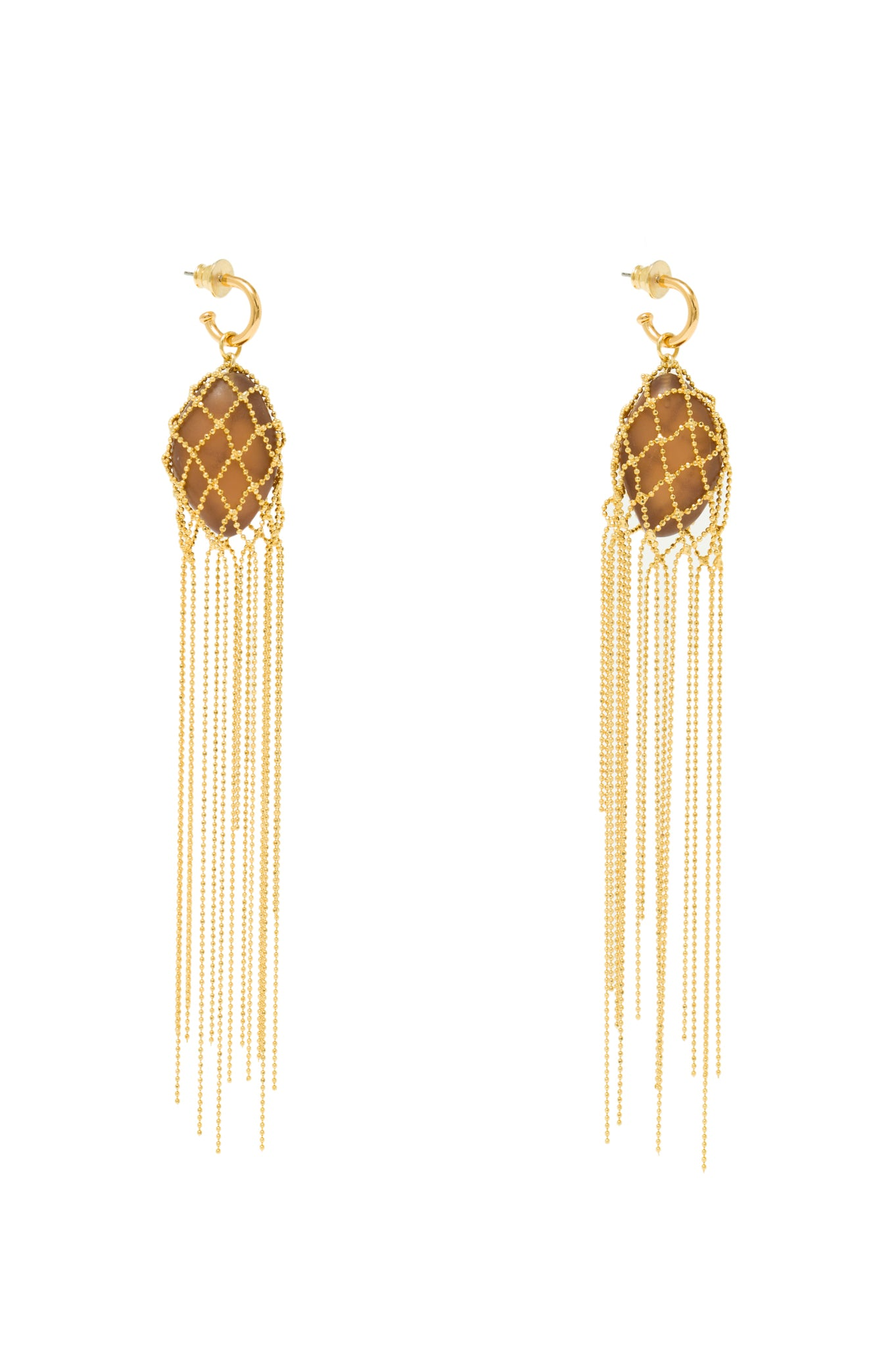 MEDUZA EARRINGS DARK BROWN
