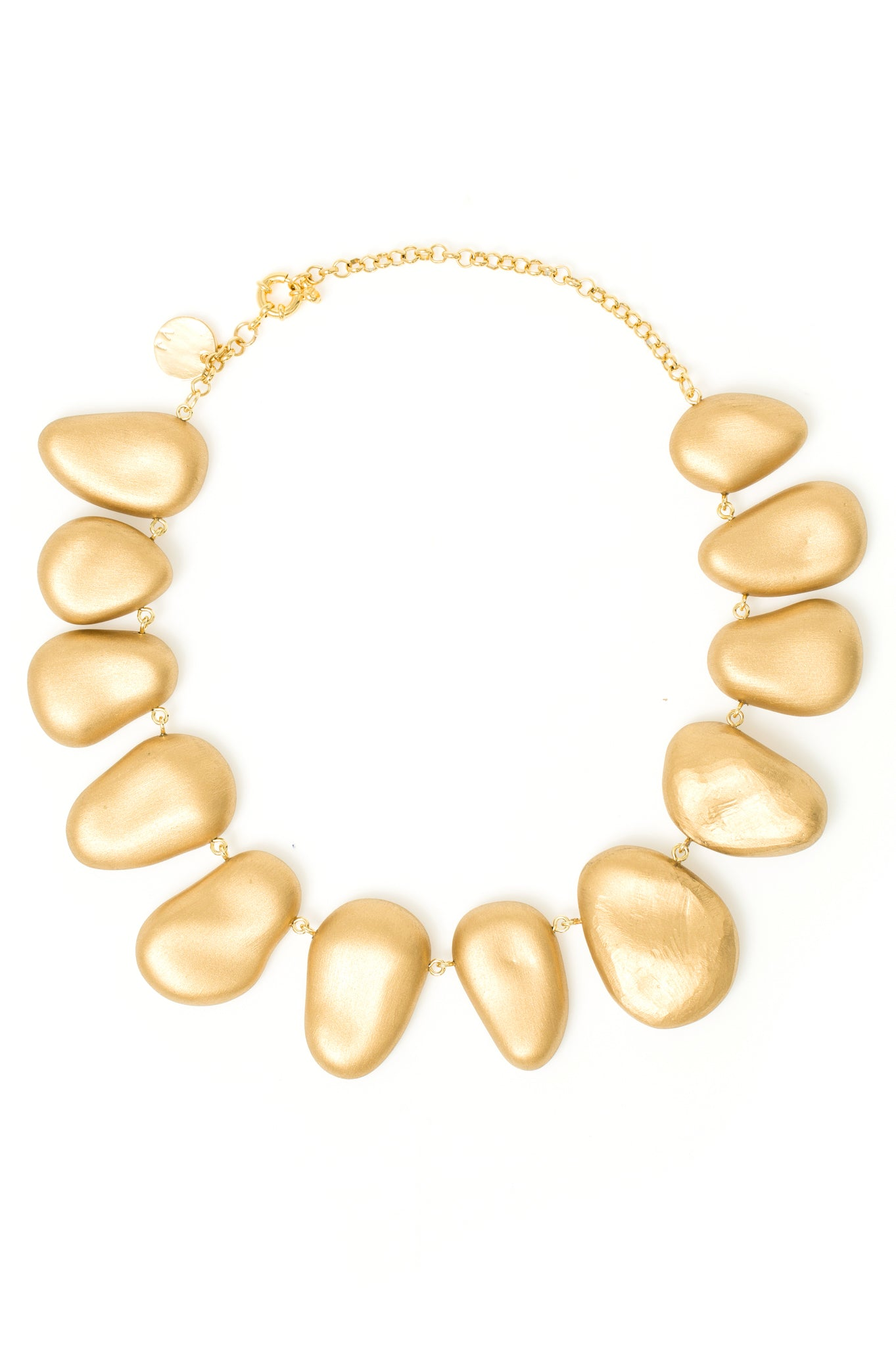 Organic gold stones necklace