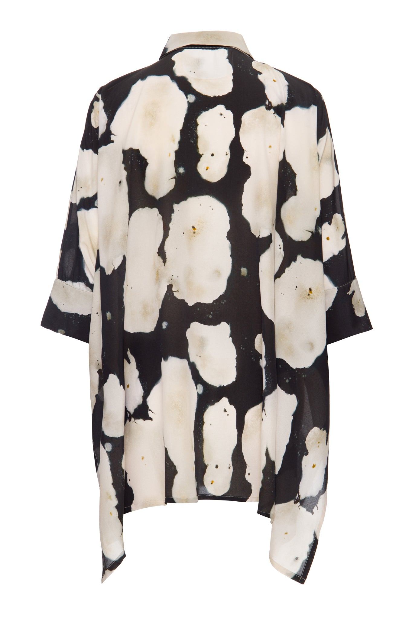 fungus black and white squared shirt
