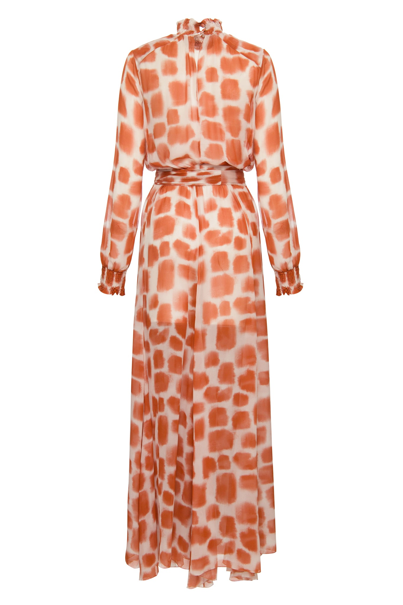 brown brush strokes Daniela dress