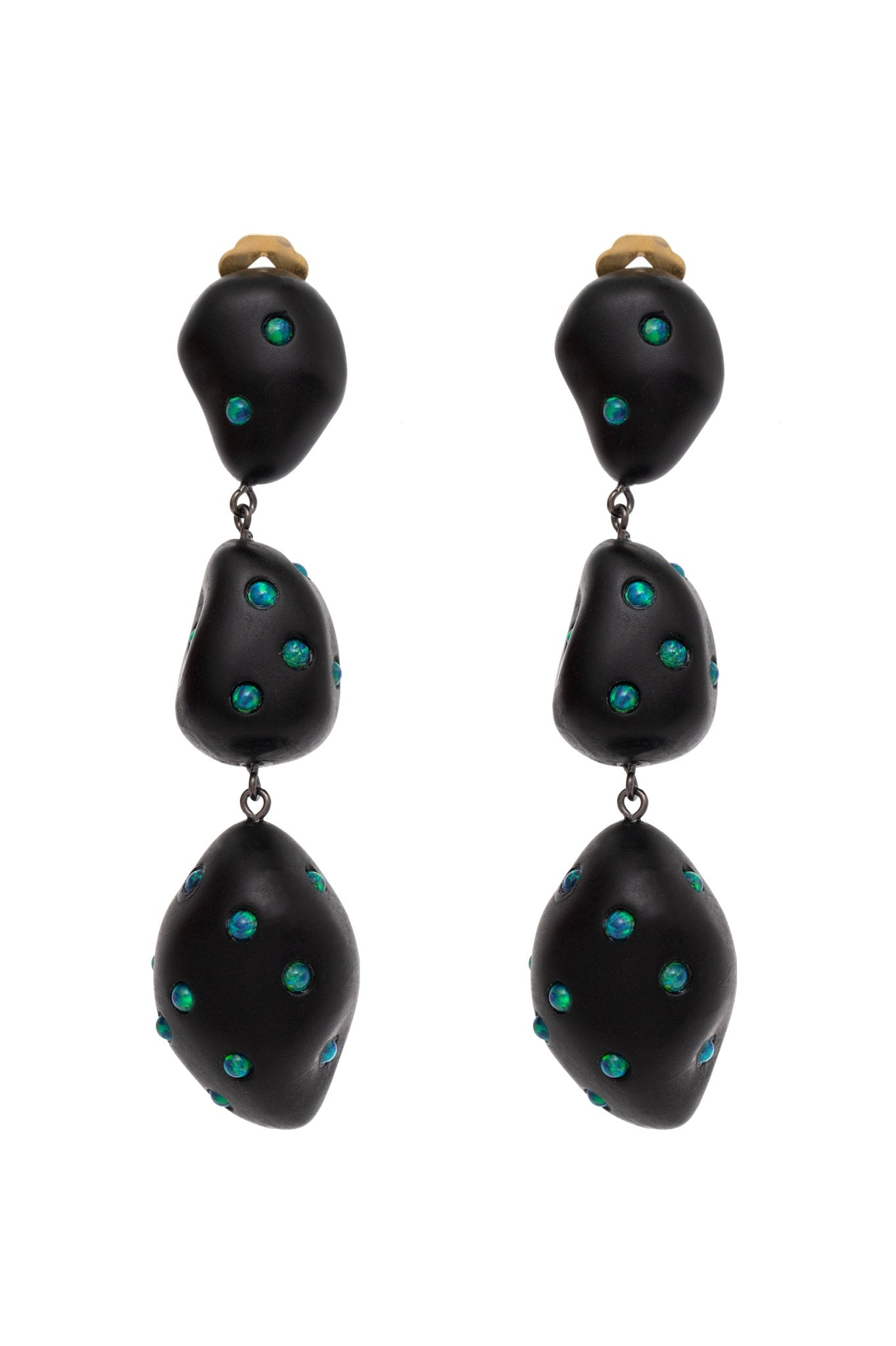 BLACK ARTSY EARRINGS