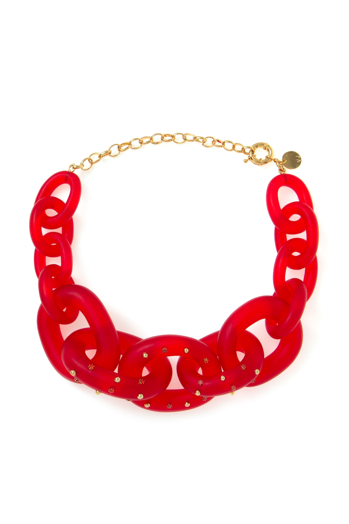 CHAIN CHOKER RED CRYSTALS