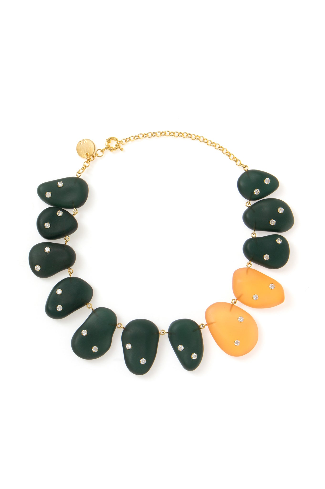 ORANGE/GREEN ORGANIC NECKLACE
