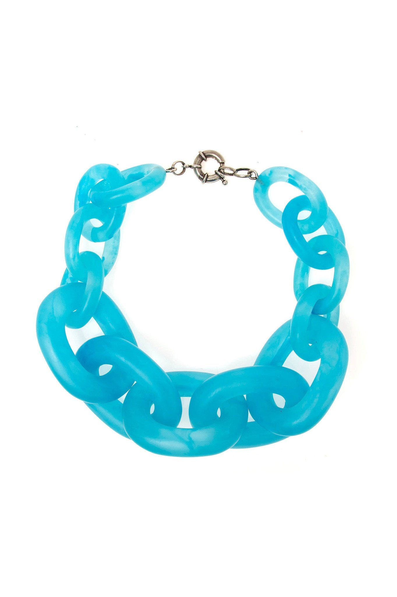 Big Light Blue Chain Choker