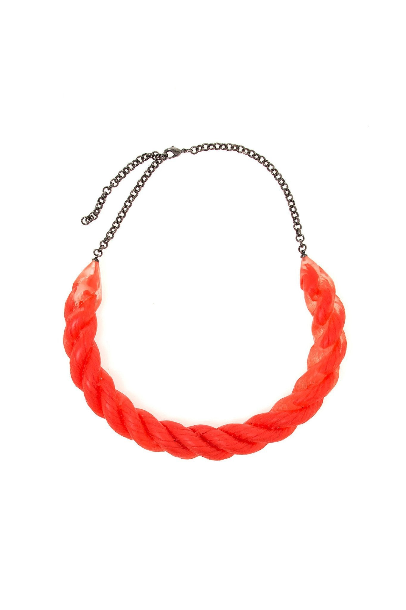 ORANGE ROPE RESIN CHOKER